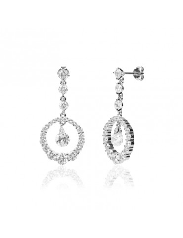 SILVER BRIDAL EARRINGS VENUS